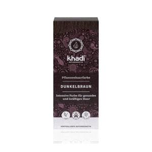 tinte vegetal castaño oscuro de la marca khadir